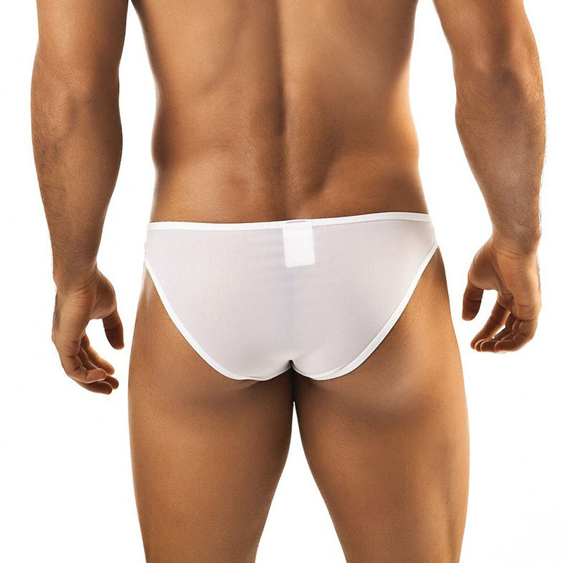 Mens Joe Snyder Mesh Bikini Brief White