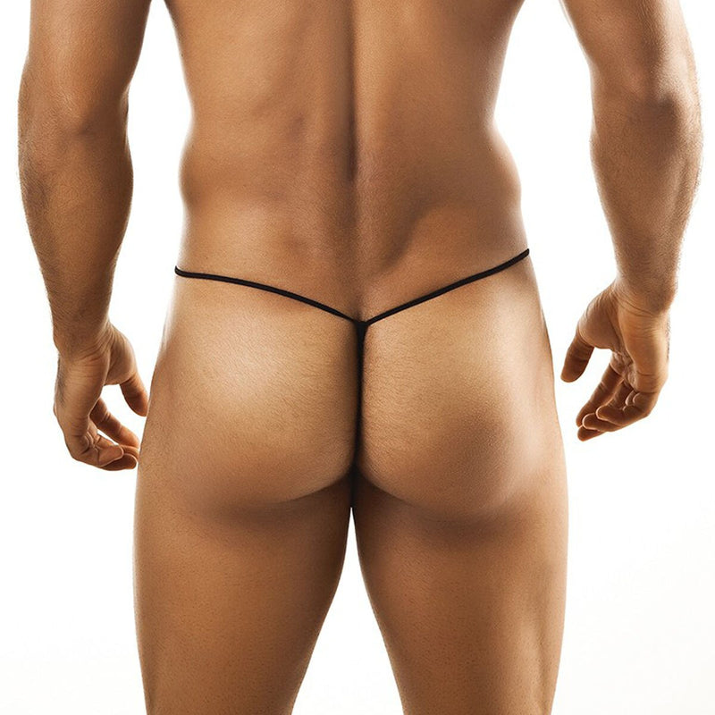 Mens Stretch Mesh Sheer Pouch G string White
