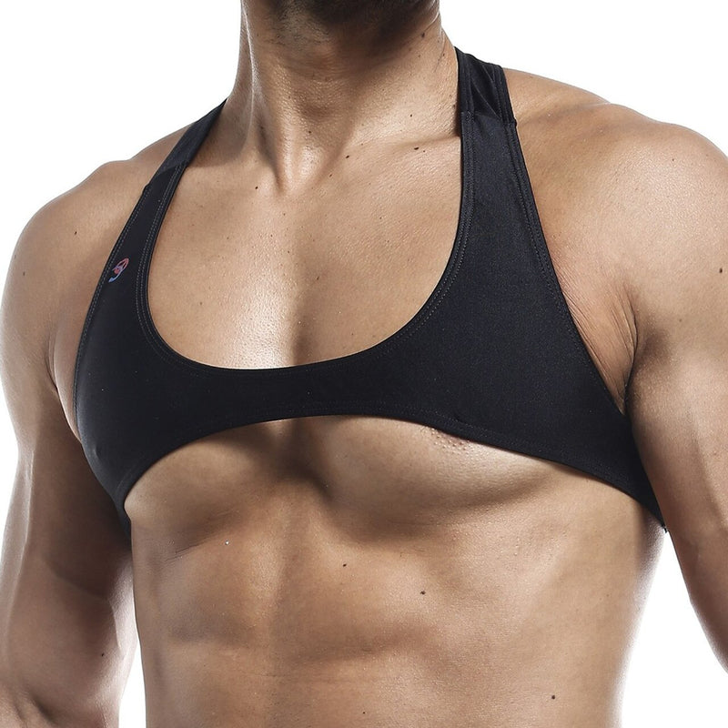 Mens Joe Snyder Stretch Spandex Posing Top with Y Back (Black or White)