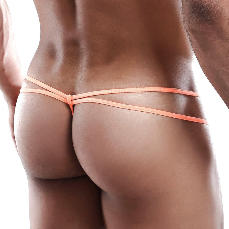 Kyle Male Double Strap G string Orange