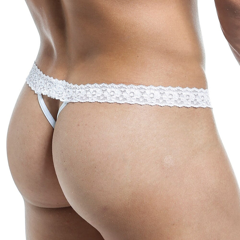 Secret Male Stretch Lace G string White