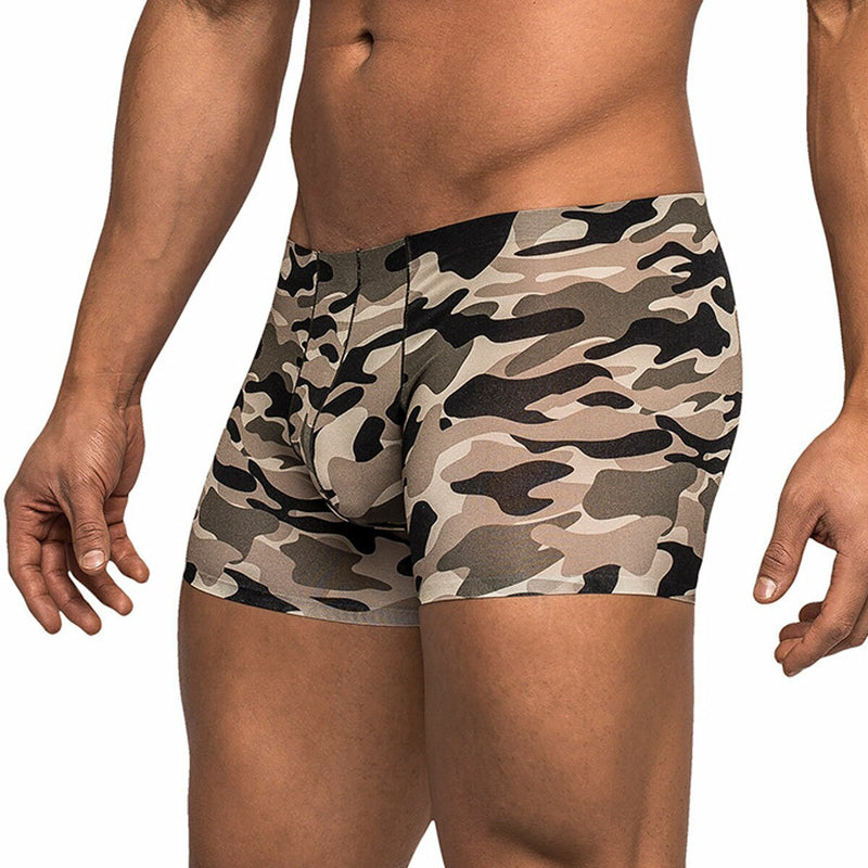 Mens Seamless Mini Boxer Brief Commando Style