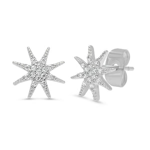 GOLD STARBURST STUD EARRINGS