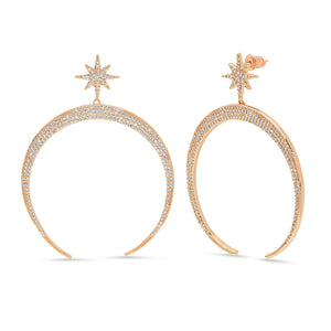 GOLD HALF MOON EARRINGS