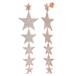 GOLD LARGE STAR DROP EARRINGS