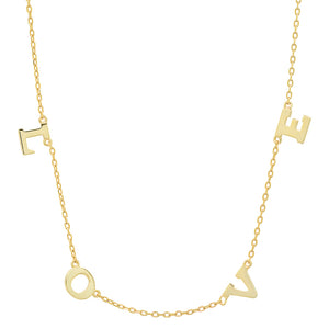 14K GOLD LOVE NECKLACE