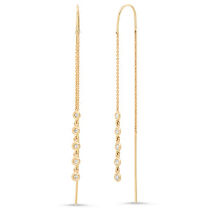 14K GOLD DIAMOND THREAD EARRINGS