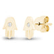 14K GOLD HAMSA EARRINGS
