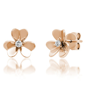 GOLD FLOWER PENDANT EARRINGS
