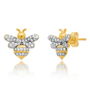 GOLD BUMBLE BEE EARRING