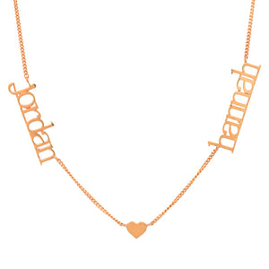 14K GOLD CUSTOM 2 LOVE NECKLACE