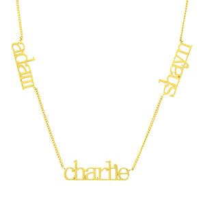 14K GOLD CUSTOM 3 NAME NECKLACE