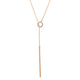 "GOLD OPEN CIRCLE LARIAT 20"" NECKLACE"