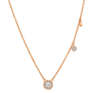 "GOLD PLATED 3 STUD CHARM 16"" NECKLACE"