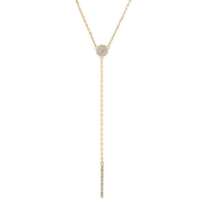 "GOLD BAR LARIAT 16"" NECKLACE"