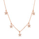 "GOLD MULTISTAR CHARM 16"" NECKLACE"