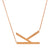 14K GOLD INITIAL LETTER NECKLACE