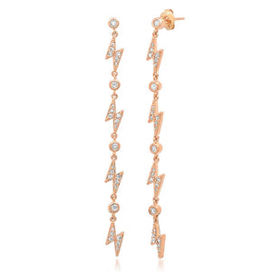 GOLD CHAIN LIGHTNING BOLT EARRINGS