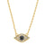 GOLD EYE SEE YOU NECKLACE
