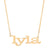 14K GOLD NAME 4 LETTER NECKLACE