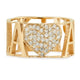 14K GOLD NAME PAVE DIAMOND HEART RING