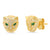 GOLD PANTHER STONE STUD EARRING