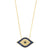 GOLD JEZEBEL BLUE EVIL EYE NECKLACE