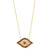 GOLD JEZEBEL RED EVIL EYE NECKLACE
