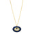 GOLD ORLY ENAMEL EVIL EYE NECKLACE