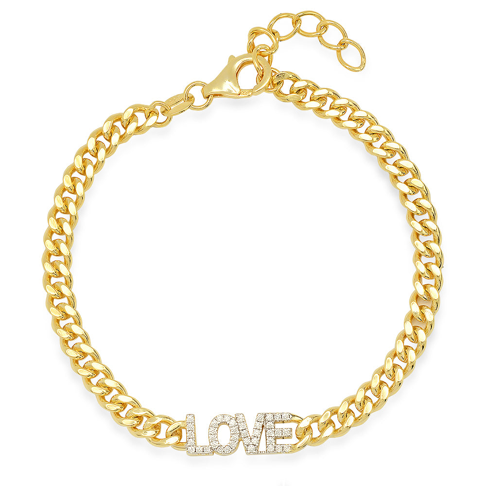 Load image into Gallery viewer, GOLD LOVE CUBAN LINK BRACELET