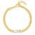 GOLD LOVE CUBAN LINK BRACELET