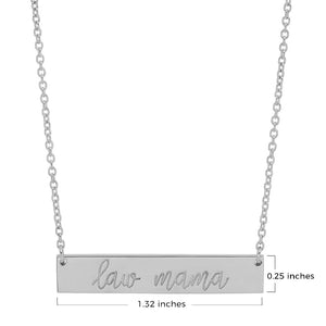 LAW MAMA CURSIVE NAME PLATE NECKLACE
