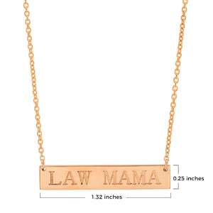 LAW MAMA BLOCK NAME PLATE NECKLACE