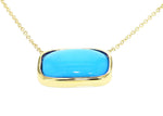 GOLD TURQUOISE NECKLACE CUSHION CUT