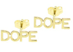 DOPE STUD EARRINGS GOLD