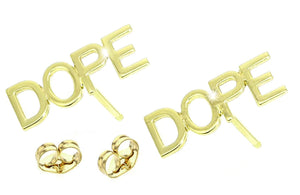14K GOLD CUSTOM NAME EARRINGS