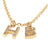 14K GOLD DIAMOND INITIAL CHARMS NECKLACE