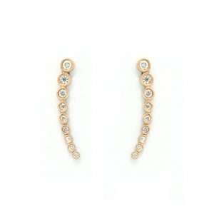 Nine Bezel Earrings