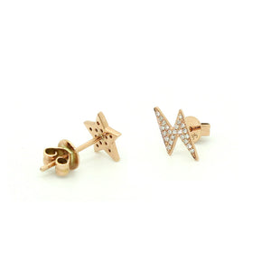 Star & Lightening Earrings