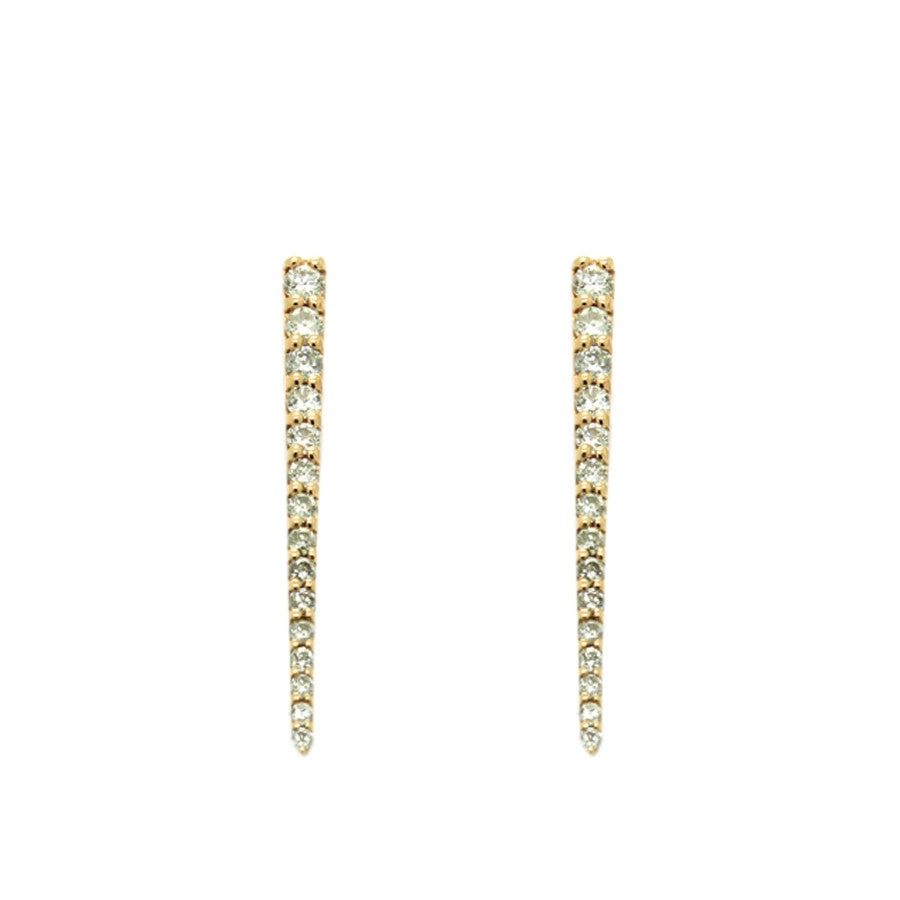 Load image into Gallery viewer, Pave Diamond Dagger Earrings