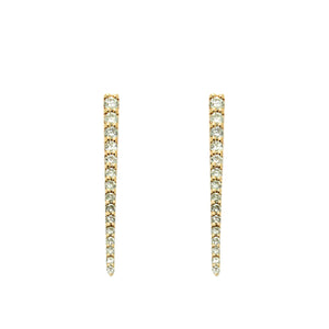 Pave Diamond Dagger Earrings