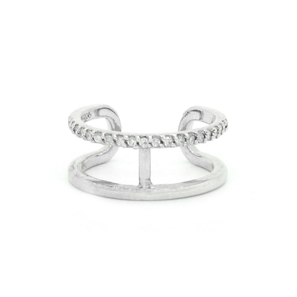 Double Band Midi Bar Ring