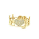 Large 2 Loves Pave Diamond Ring