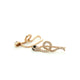 14K GOLD SNAKE EARRINGS