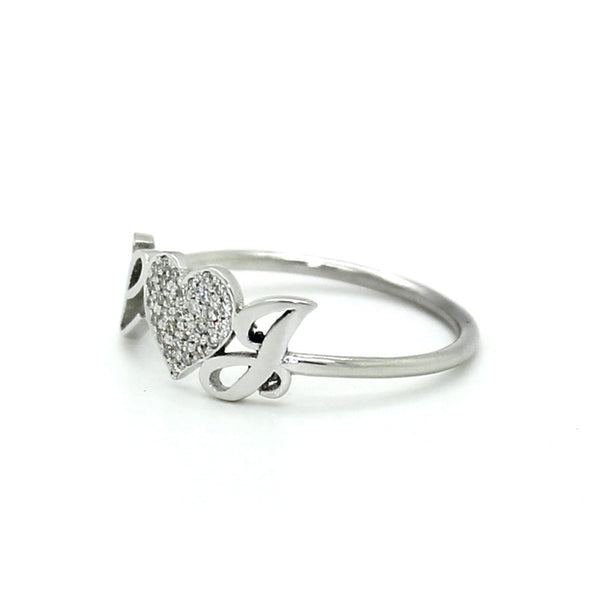 Initials Pave Diamond Ring