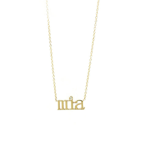 Custom Name Diamond Necklace