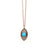 14K GOLD AND TURQUOISE PROTECTION NECKLACE