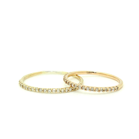 Pave Diamond Midi Ring