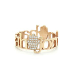 14K GOLD CLASSIC HAMSA PAVE DIAMOND RING