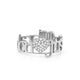 14K GOLD CLASSIC 2 LOVES PAVE DIAMOND RING